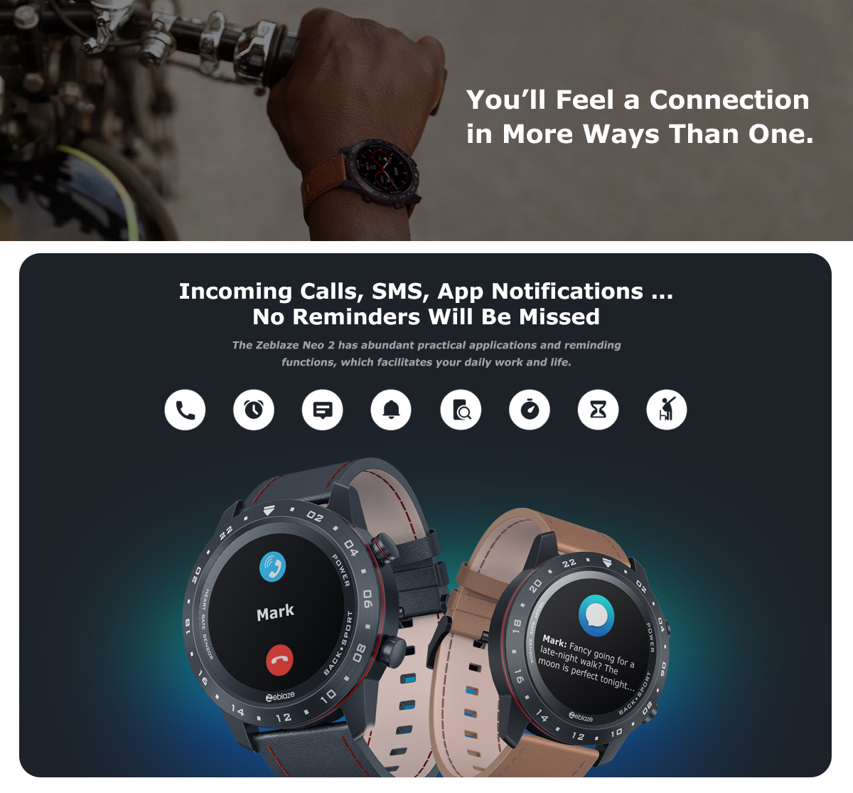 Zeblaze NEO 2 Smart Watch Health Fitness Battery